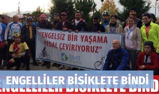 ENGELLİLER BİSİKLETE BİNDİ
