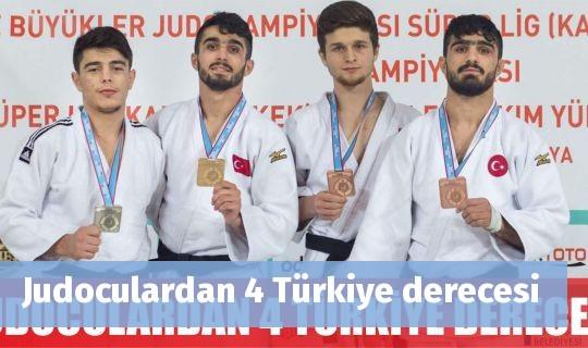 Judoculardan 4 Türkiye derecesi