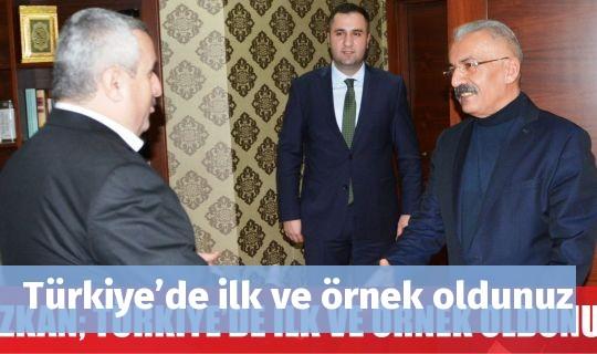 Türkiye'de ilk ve örnek oldunuz
