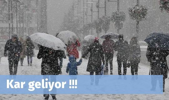 Kar geliyor !!!
