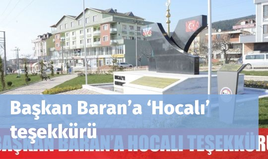 Başkan Baran'a'Hocalı' teşekkürü