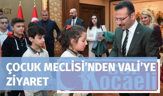 ÇOCUK MECLİSİ'NDEN VALİ'YE ZİYARET