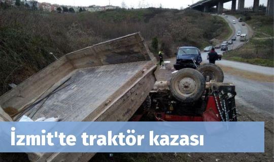 İzmit'te traktör kazası