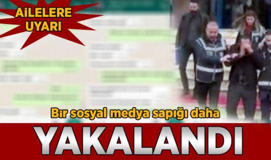Sosyal medya sapığı tutuklandı!