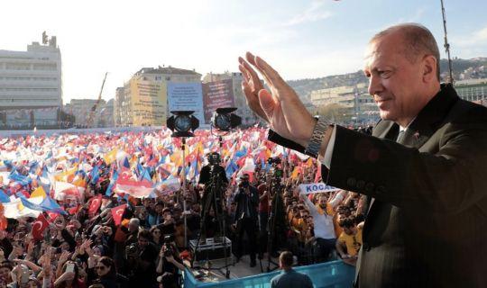 Kocaeli'de,Erdoğan'ın mitinginde büyük coşku vardı