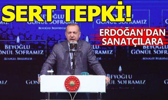 Erdoğan'dan sinema dünyasına sert tepki