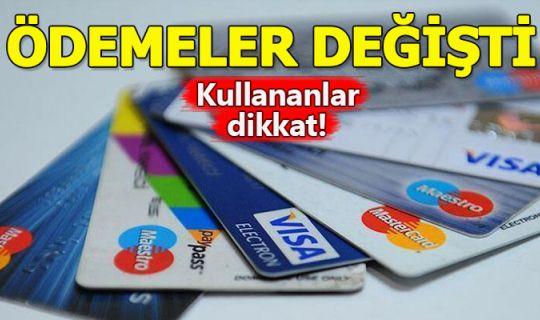 Kredi kartı asgari tutarları değişti