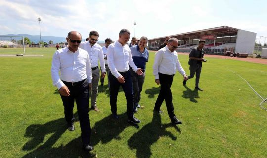 Başkan Büyükakın, Brunga tesislerinde inceleme yaptı
