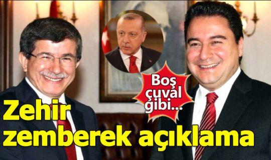 Erdoğan'dan, yeni parti hazırlığındaki Davutoğlu ve Babacan'a sert sözler