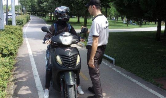Sekapark'ta motosiklet kullanımına sıkı denetim