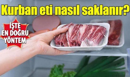 Kurban eti nasıl saklanır hemen dolaba konur mu? Kurban eti ne zaman dolaba buzluğa konur kaç saat dinlendirilmeli?