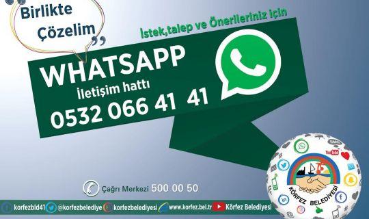 Körfez'de whatsapp hattı devrede