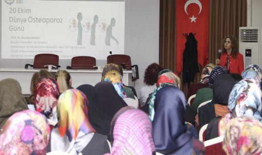 Büyükşehir'den osteoporoz için farkındalık semineri
