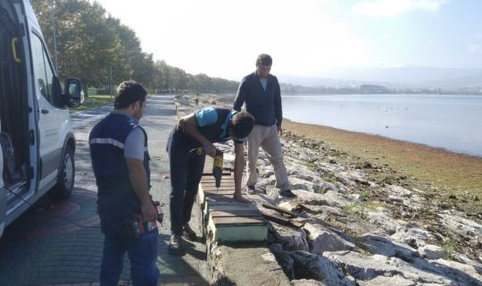 Ömer Türkçakal Bulvarı, Sahili'nde kentsel donatılar yenilendi