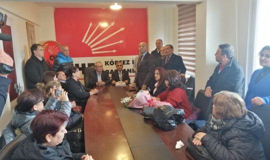 CHP Körfez İlçe Başkanı Bülent Yıldız mazbatasını aldı