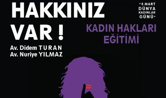 İzmit Belediyesi ile Kocaeli Barosu'ndan kadın hakları eğitimi