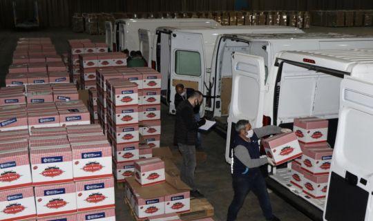 Bugün 3 bin gıda paketi ihtiyaç sahiplerine ulaştırılıyor