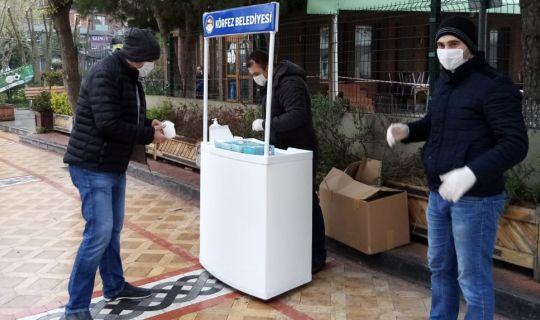Körfez'de, vatandaşlara maske dağıtıldı