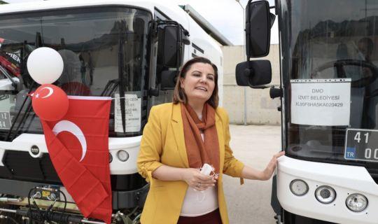 zmit Belediyesinin yeni araç filosu kadınlar ile daha güçlü olacak