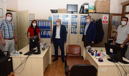 İl Kültür ve Turizm Müdürü Taşdelen,  ilçe kütüphanelerini ziyaret etti.