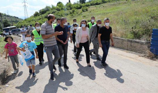 Başkan Hürriyet, Tüysüzler'i sokak sokak inceledi