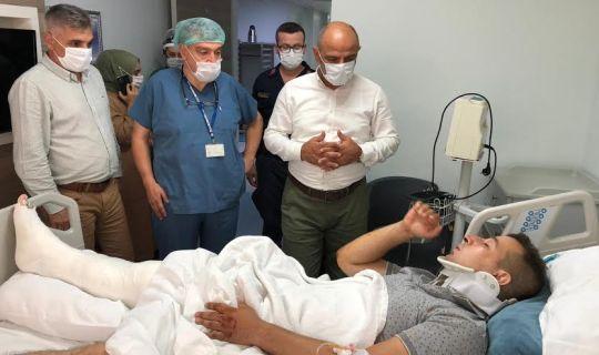 Başkan Söğüt, yaralı askerleri ziyaret etti