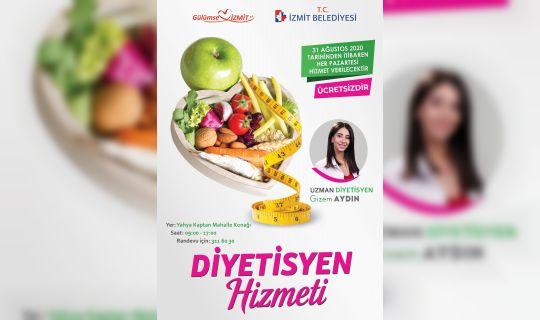 İzmit Belediyesinden ücretsiz diyetisyen hizmeti