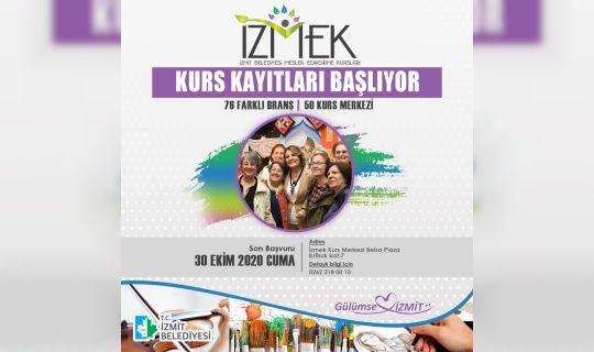 İzmit Belediyesi Meslek Edindirme Kursları İZMEK'te kayıtlar başladı