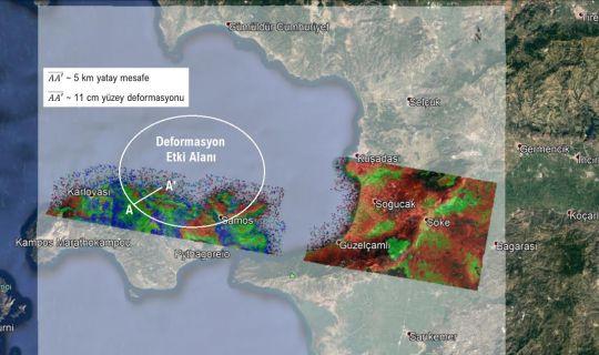 İzmir Depreminin Yüzey Deformasyon Haritası Üretildi