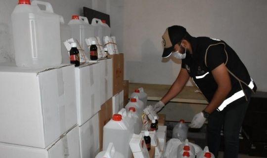 Sahte alkol üretimi ve kaçakçıları yakalandı