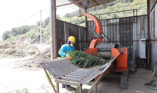 Körfez'de, 248 ton bitkisel atık, gübreye dönüştürüldü