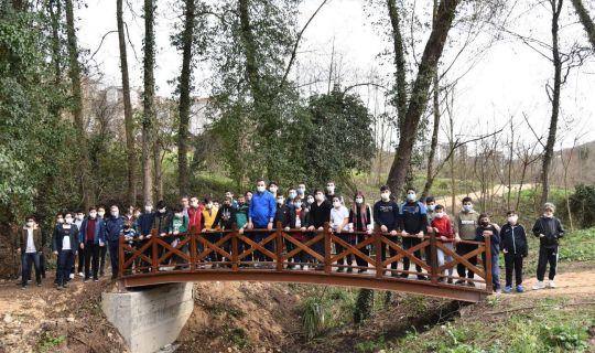 Başkan Özlü Gençlerle Döngel Vadisi Millet Bahçesi'nde
