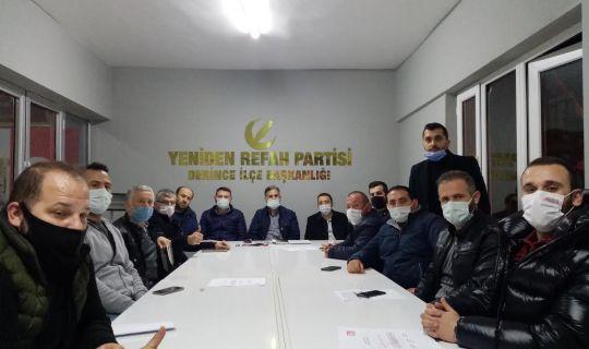 Yeniden Refah Partisi Derince İlçe Başkanlığı, olarak Haftalık toplantısını gerçekleştirdi