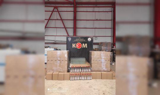 1200 şişe kaçak etil alkol ele geçirildi