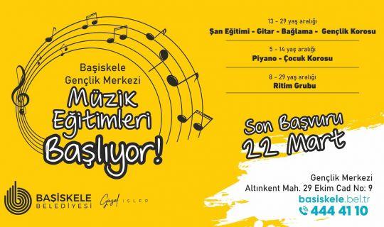Başiskele'de, Ücretsiz Müzik Eğitimleri Başlıyor