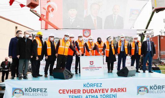 Cevher Dudayev Parkı'nın temeli atıldı