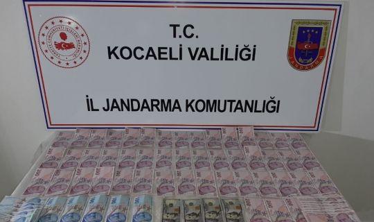 Kocaeli İl Jandarma Komutanlığı, sahte para operasyonu düzenledi