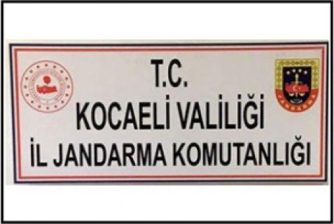 Kocaeli İl Jandarma Komutanlığı,  terörle mücadele kapsamında bir şahsı yakaladı