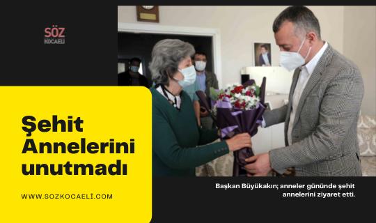 Başkan Büyükakın, Şehit annelerini ziyaret etti