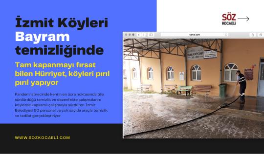 İzmit Belediyesi tüm köylerdebayram temizliği yapıyor