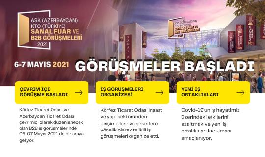 KTO- Azerbaycan Ticaret Odası Online İkili İş görüşmeleri Başlıyor