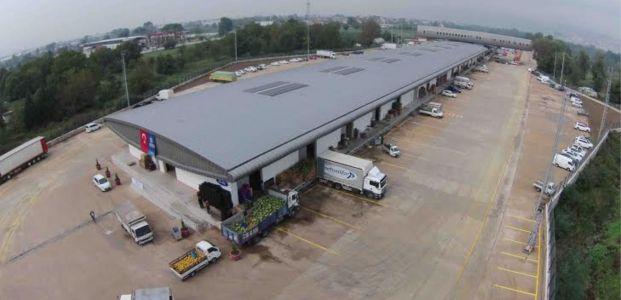 56 bin metrekarelik hal binası hizmete girdi