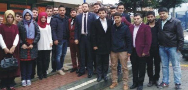 Ak Gençler Başkanları ile birlikte sahada