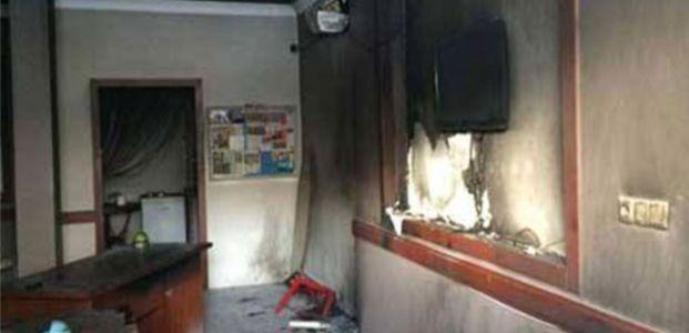 AKP ilçe binasına moloyoflu saldırı