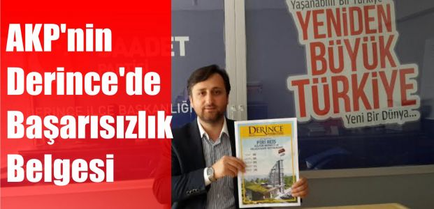 AKP'nin Derince'de Başarısızlık Belgesi