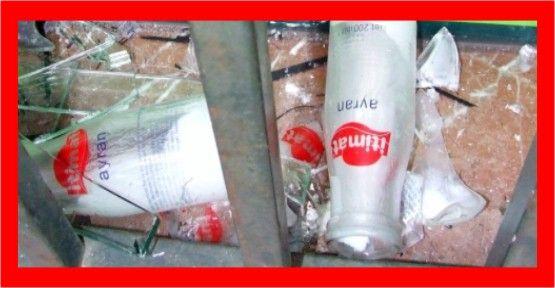 Ayran şişesiyle iş yerinden hırsızlık iddiası