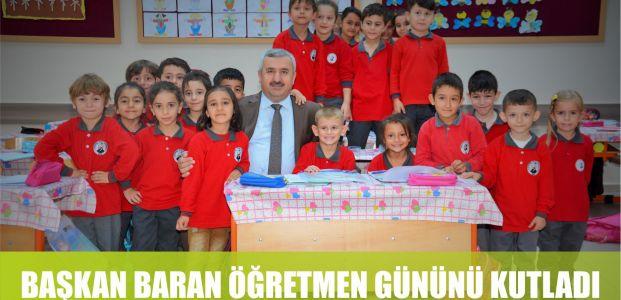 Başkan Baran Öğretmenler gününü kutladı