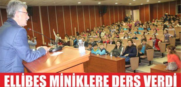 Başkan Ellibeş çocuklara ders verdi