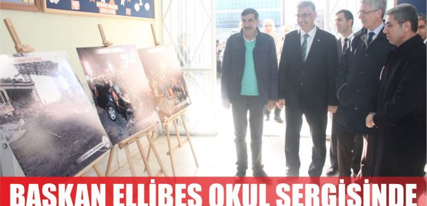Başkan Ellibeş okul sergisinde