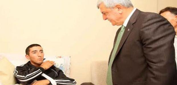 Başkan Karaosmanoğlu'ndan, Gazi Varçın'a ziyaret